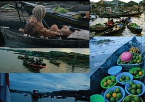 Kegiatan Pasar Terapung Kuin di pagi hari