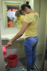WC nya  lumayan bersih tinggal di siram